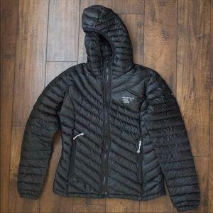 Mountain hardwear light down puff jacket black
